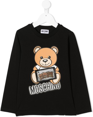 MOSCHINO BAMBINO Teddy Bear jersey top