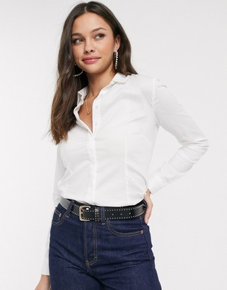 Pimkie fitted shirt in white