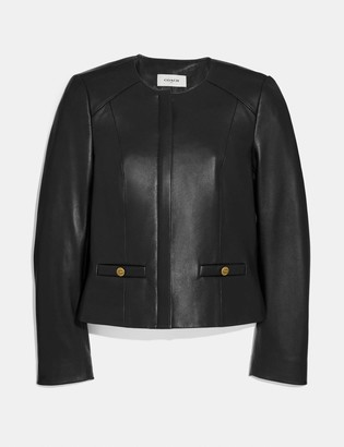 Coach Tailored Leather Jacket