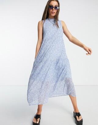 Vero Moda smock shirt midaxi dress in cream