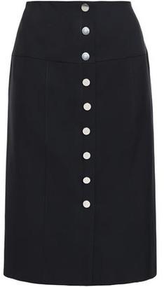 Proenza Schouler Snap-detailed Twill Pencil Skirt