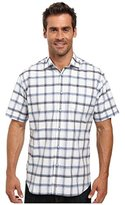 Thomas Dean Men's Sprd Cllr Poplin Plaid Short Sleeve