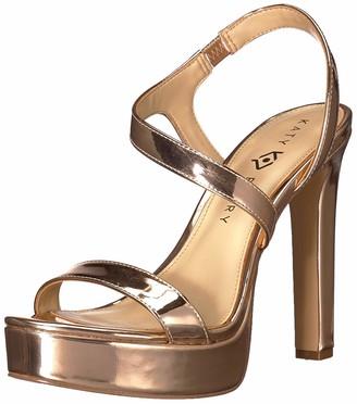 Katy Perry Women's The Naomi-Mirror Heeled Sandal silver 5.5 M Medium US