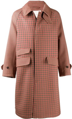 MACKINTOSH Ashkirk check virgin wool oversize coat