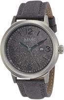 August Steiner Men's AS8088GY Stainless Steel and Gray Canvas Watch