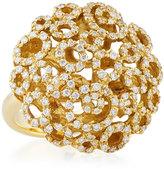 Roberto Coin Mauresque 18k Yellow Gold Diamond Filigree Ring, Size 6.5