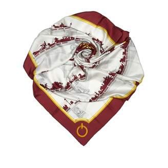 Hermes White Silk Scarves