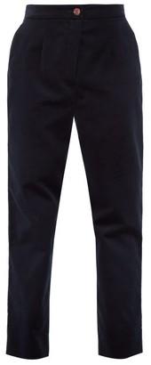 Dolce & Gabbana High-rise Velvet Trousers - Dark Blue