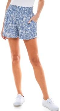 BeBop Juniors' Smocked-Waist Shorts