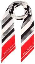Balenciaga Striped silk scarf