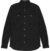 Denham Edge Cotton Shirt, Washed Black