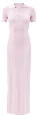 Jacquemus Cutout-back Knitted Polo Dress - Light Pink
