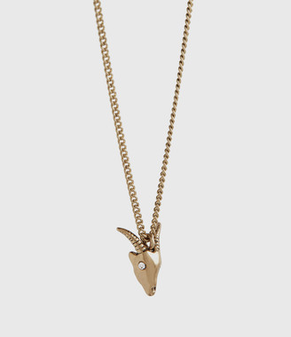 AllSaints Mini Ram Gold-Tone Necklace