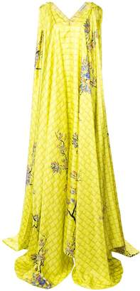 Vionnet draped blossom gown