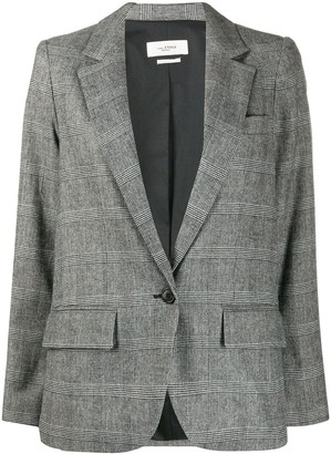 Etoile Isabel Marant Checkered Single-Breasted Blazer