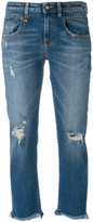 R 13 cropped jeans - women - Cotton/Polyester/Spandex/Elastane - 26