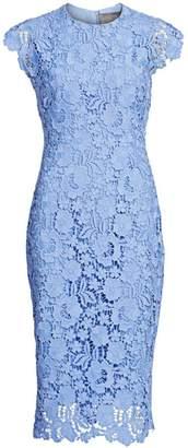 Lela Rose Short Sleeve Lace Sheath Dress