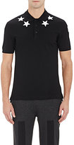 Givenchy Men's Star-Appliquéd Polo Shirt-BLACK