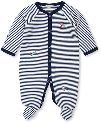 Kissy Kissy Awesome Airplanes Striped Footie Playsuit, Size Newborn-9 Months