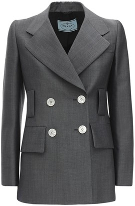 Prada Double Breast Mohair Knit Jacket