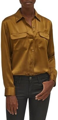 Equipment Signature Silk Button Up Silk Shirt