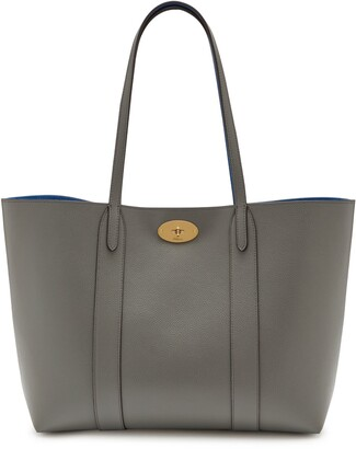 Mulberry Bayswater Tote Charcoal Small Classic Grain
