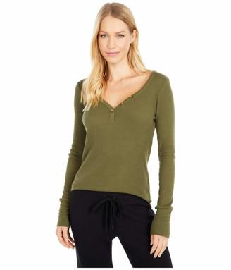PJ Salvage Women's Loungewear Textured Basic Long Sleeve Pajama Top