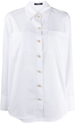 Balmain Engraved Buttons Long-Sleeved Shirt