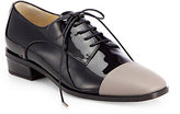 Jimmy Choo Werner Patent Leather Cap-Toe Lace-Up Oxfords