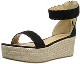 Qupid Women's Benson-02 Espadrille Wedge Sandal