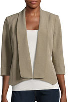 Kasper Suits Point-Hem Shawl Collar Jacket