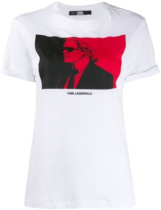 Karl Lagerfeld Paris quote-print T-shirt