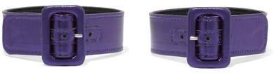 ATTICO Metallic Leather Ankle Straps - Royal blue