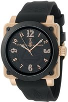 Christian Audigier Unisex FOR-217 Fortress Black Dollar Ion-Plating Black Watch