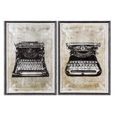Uttermost 2 Piece Classic Typewriters Artwork Set