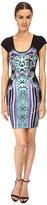 Just Cavalli Printed Scoop Neck Dress