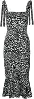 Piamita Leopard Print Midi Dress