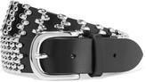 Isabel Marant Faithful Studded Leather Waist Belt - Black