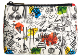 Alice + Olivia Staceface Graffiti Print Small Pouch