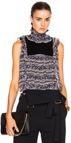 See by Chloe Sleeveless Ruffle Neck Top
