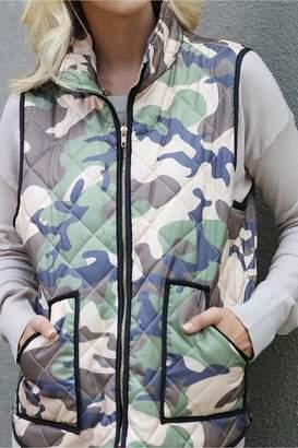 Wanna B Padded Camo Vest