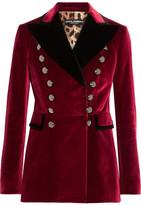Dolce & Gabbana Velvet Blazer - Burgundy