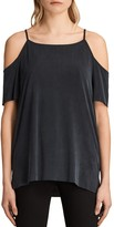 AllSaints Tyra Cold Shoulder Top in Cupro