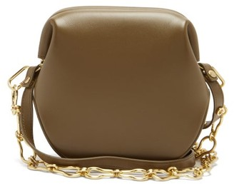 Osoi - Toast Brot Two-strap Leather Shoulder Bag - Khaki