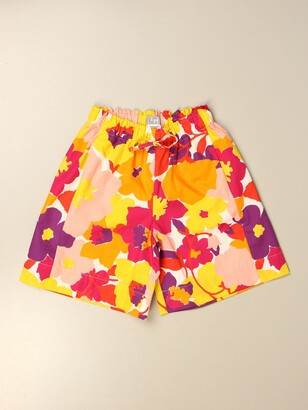Il Gufo Shorts In Floral Patterned Cotton