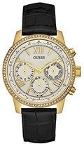 GUESS Goldtone Glitz Bezel Sport Watch