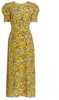 Saloni Bianca Silk Midi Dress