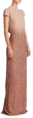 Pamella Roland Beaded Silk Gown