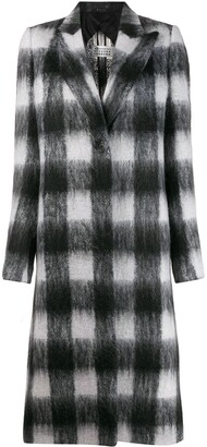 Maison Margiela Checked Buttoned Coat