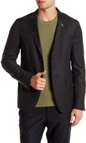 Gant Gray Two Button Notch Lapel Luxe Flannel Wool Blazer